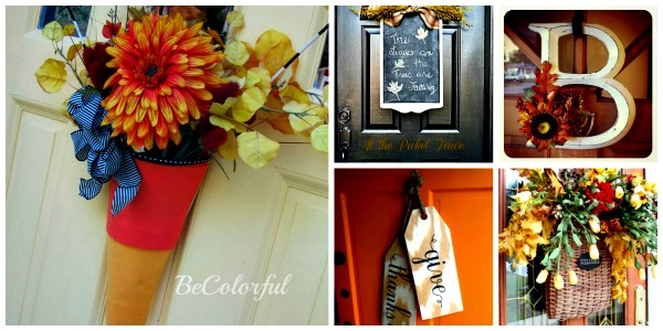 Fall Door Decor Collage