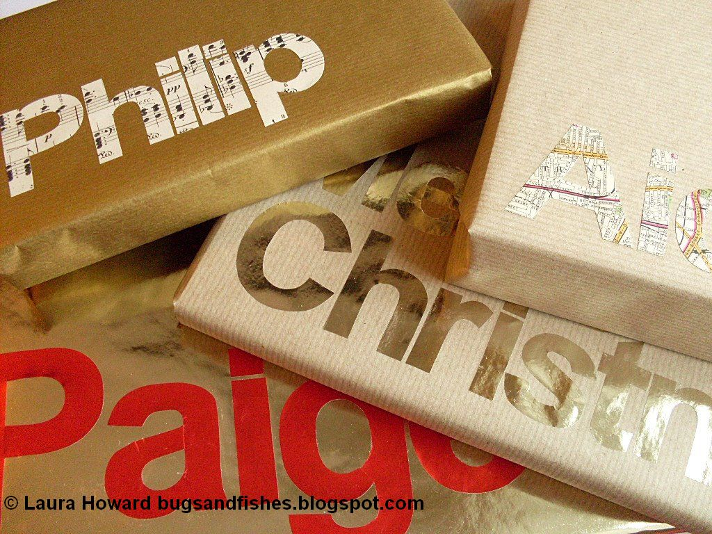 typography gift wrap 1