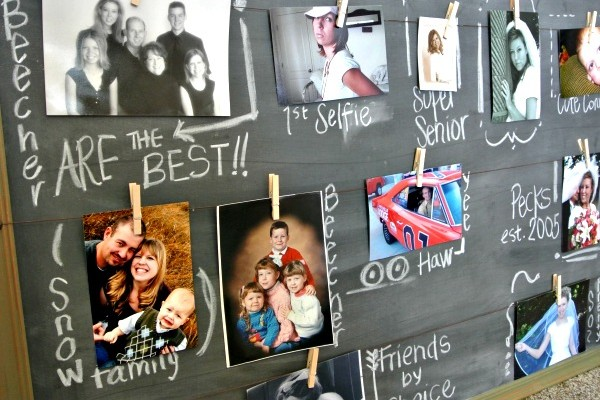 Chalkboard Photo Hanger