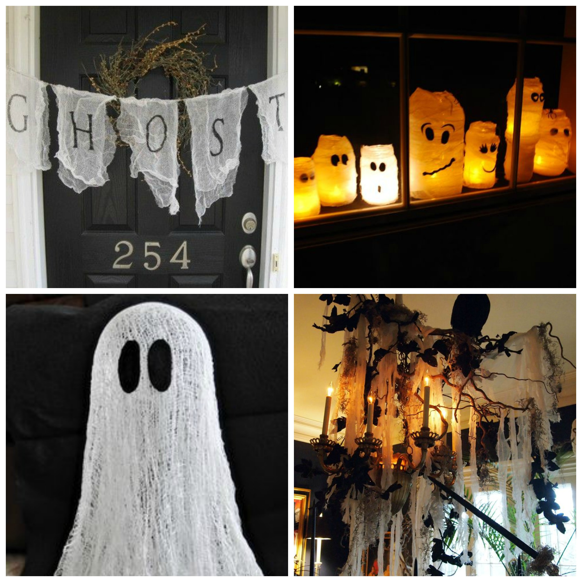 Halloween Cheese Cloth Collage