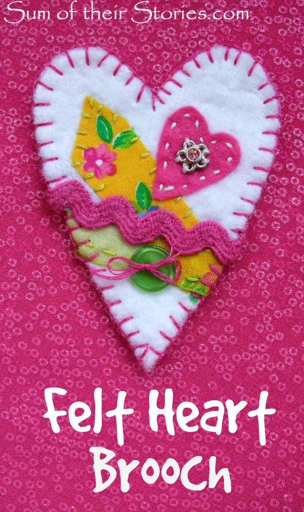 Felt Heart Brooch 1