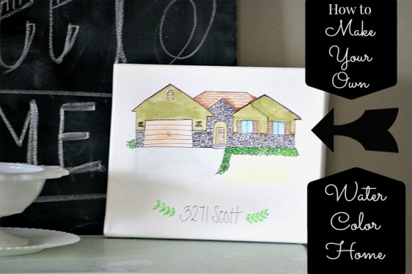 How to make your own watercolor home!