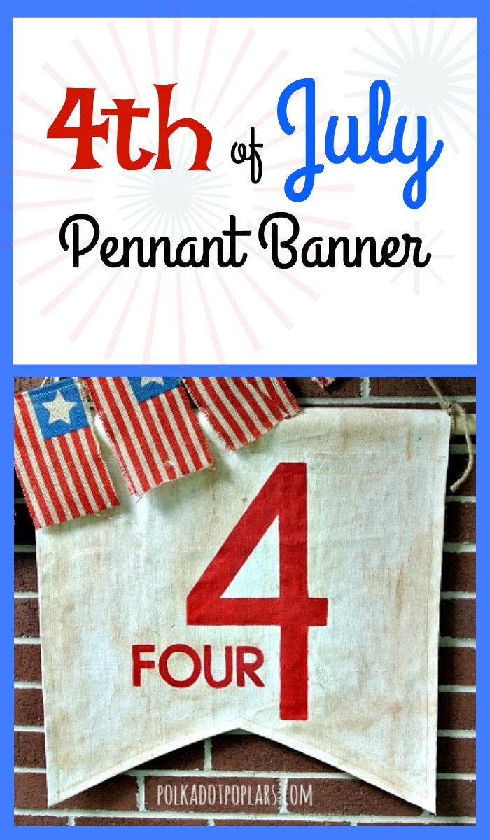 4th of July Pennant Flag
