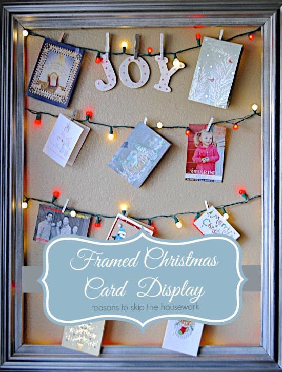Christmas Card Frame Holder
