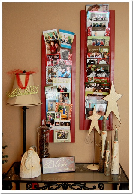 Christmas Card Holder Using Shutters