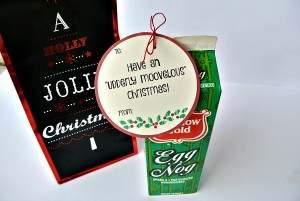 Egg Nog Gift Tag