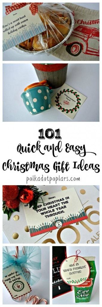Great ideas for quick and easy Christmas gifts.