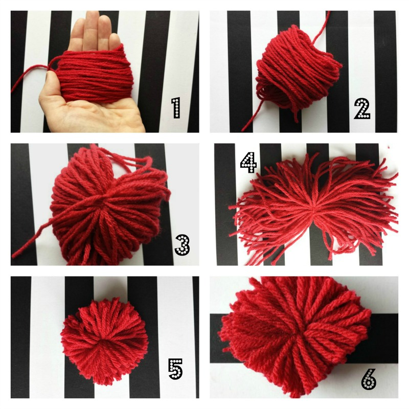 Heart Pom Pom Collage