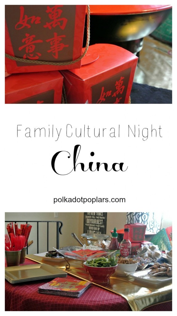 A fun family night learning about China.