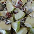 Granny Smith Apples, Red Apples, Vanilla Greek Yogurt, Dried Cranberries, Cinnamon, Nutmeg, Coconut, Pecans