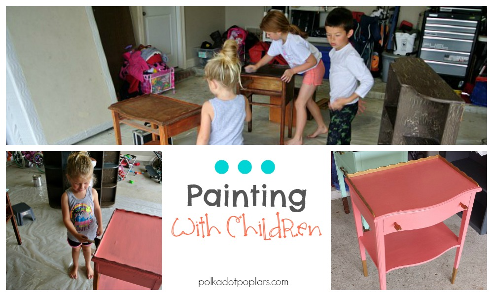 Painting with children tips and ideas.