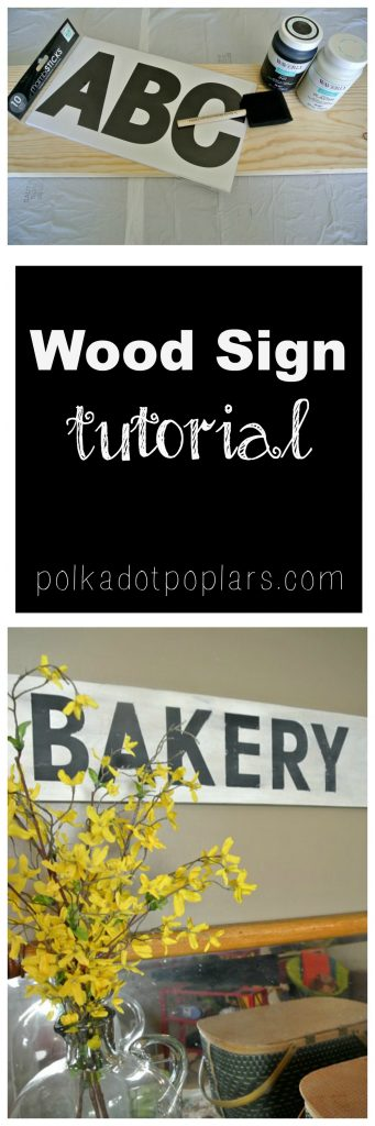 DIY Wood Sign Tutorial is easy and inexpensive to make.