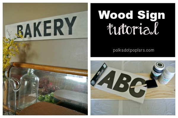 DIY Wood Sign Tutorial that only takes a few hours to make and costs about $6.00.