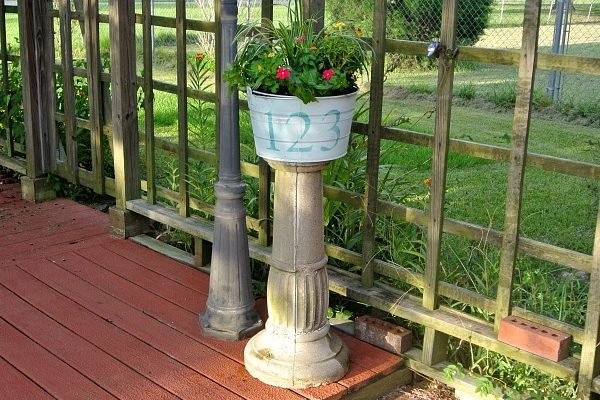 Flower Planter Thrift Store Upcycle