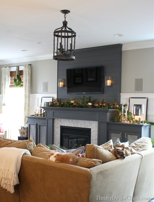 Wall Sconces Near Tv : Decorating Around A TV Over A Mantel