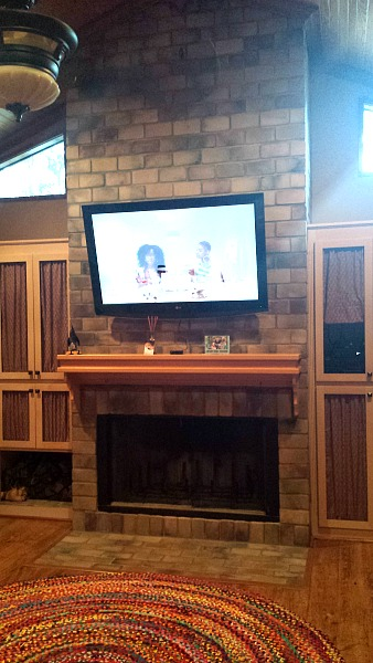 TV Over Fireplace Mantel