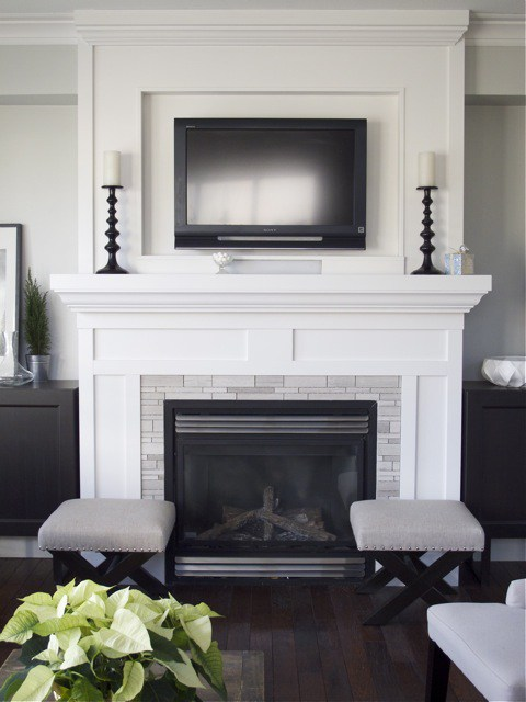 Simple Fireplace Decor