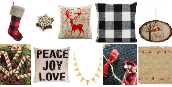 Rustic Christmas Decor For Under $10