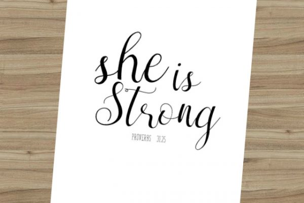 Free She is Strong Printable
