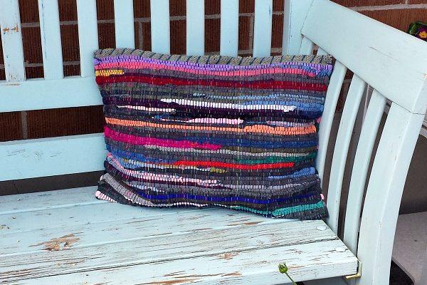 Rag Rug Pillow DIY