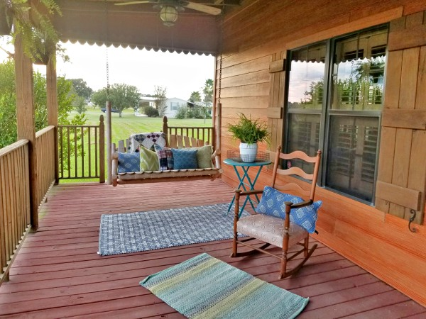 Porch swing and rocking chair