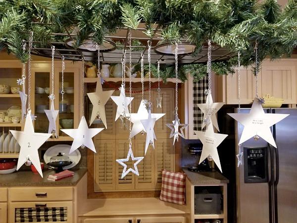 hanging star advent