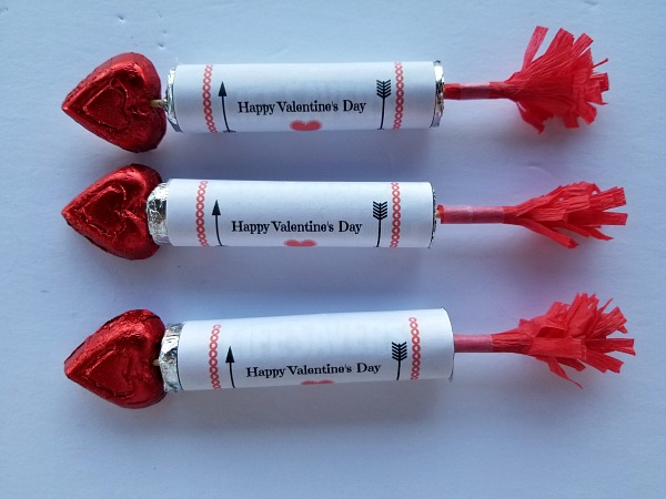 three candy arrows