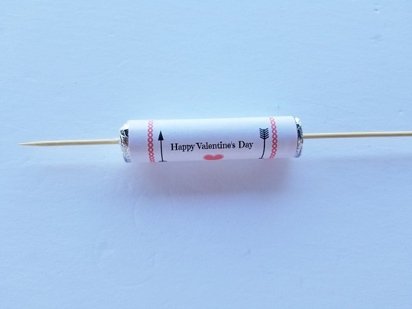 making a candy valentine