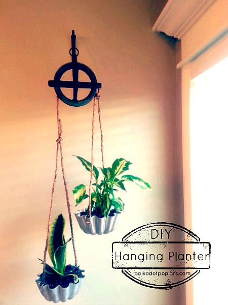 Pulley Hanging Planter