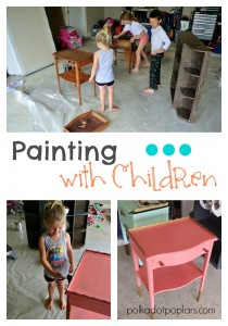 Painting with children tips and tricks.