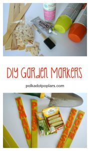 Easy, but cute garden markers.