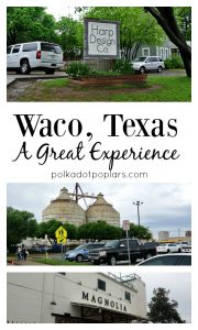 Our experiences in Waco Texas.