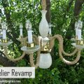 Easy Chandelier Makeover