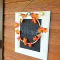 Fall Wreath on a Chalkboard