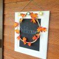 Fall Wreath on a Chalkboard