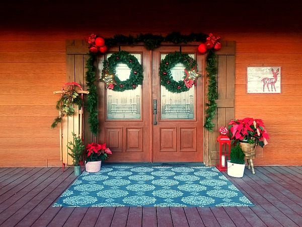 our Christmas porch