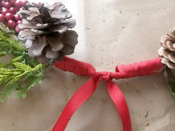 ribbon on a wreath
