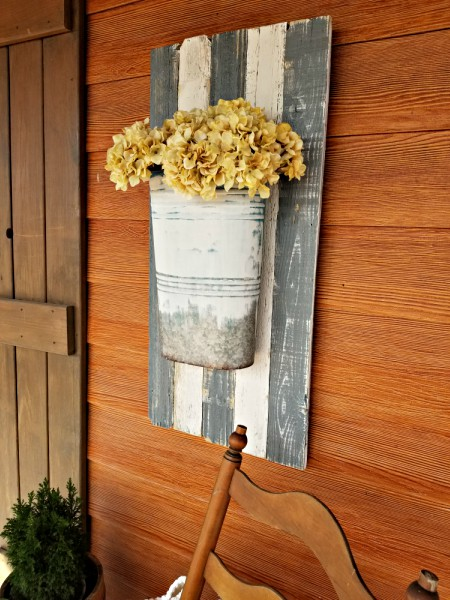 pallet wood planter decor