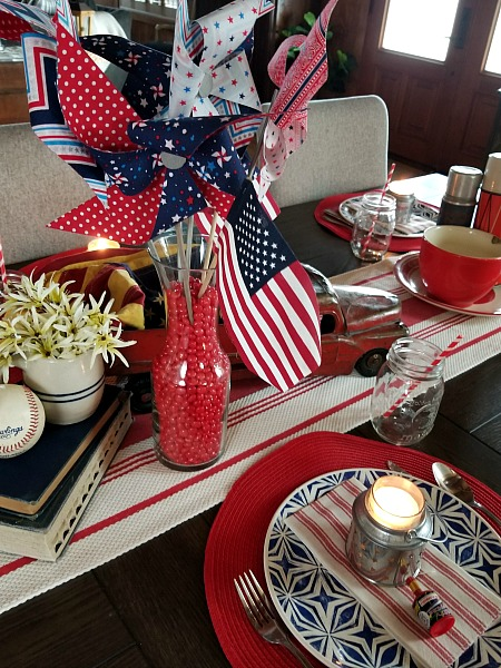 DIY 4th of July Table