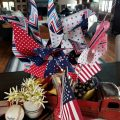 Pinwheel and Flag Centerpiece