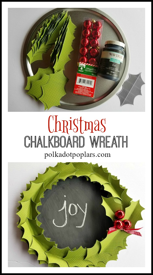 Christmas Chalkboard Wreath