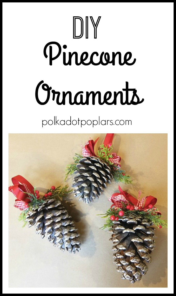 how to make pinecone ornaments