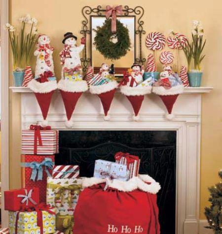 Santa Hats Holding Gifts
