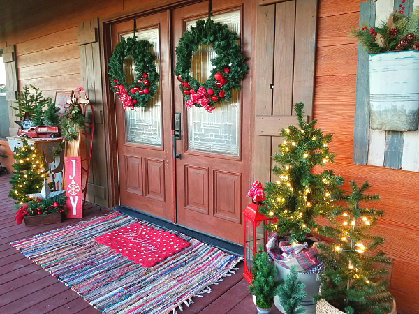 Christmas on a porch