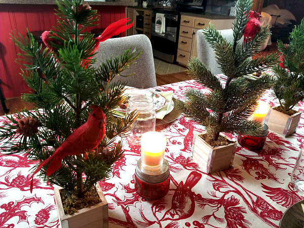 Red Bird Tablescape