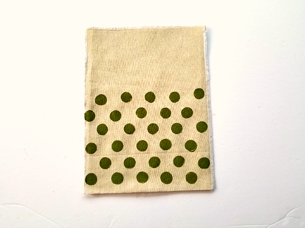 polka dot muslin bag