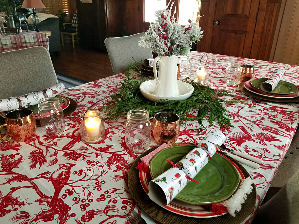 Christmas Table Scape Ideas.Christmas Tablescape Ideas Polkadotpoplars Com