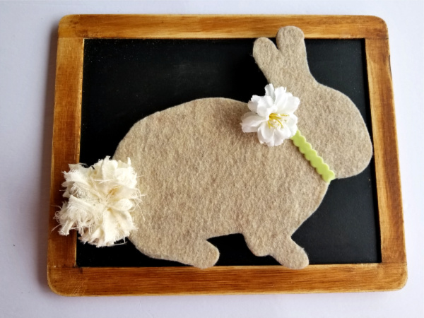 Framed Easter Bunny Decor