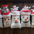 Snowmen in a row