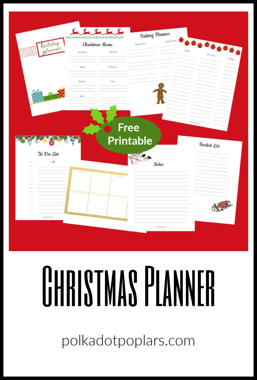 Christmas Planner Pin
